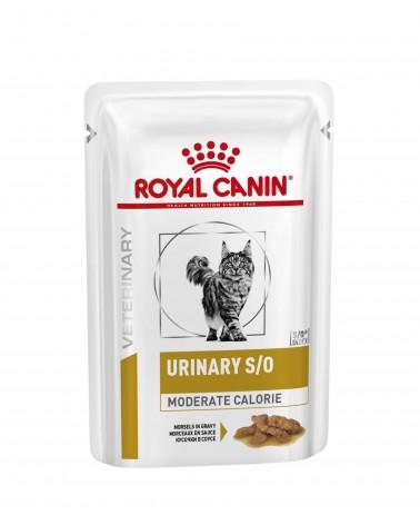 Royal Canin Veterinary Gatti Urinary S/O Moderate Calorie umido straccetti in Salsa di Pollo 85 Gr