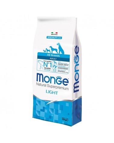Monge All Breeds Adult Light Salmone e Riso 12 kg