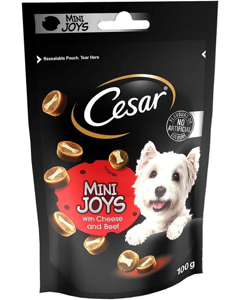 Cesar Mini Joys snack con Formaggio e Manzo 100 Gr