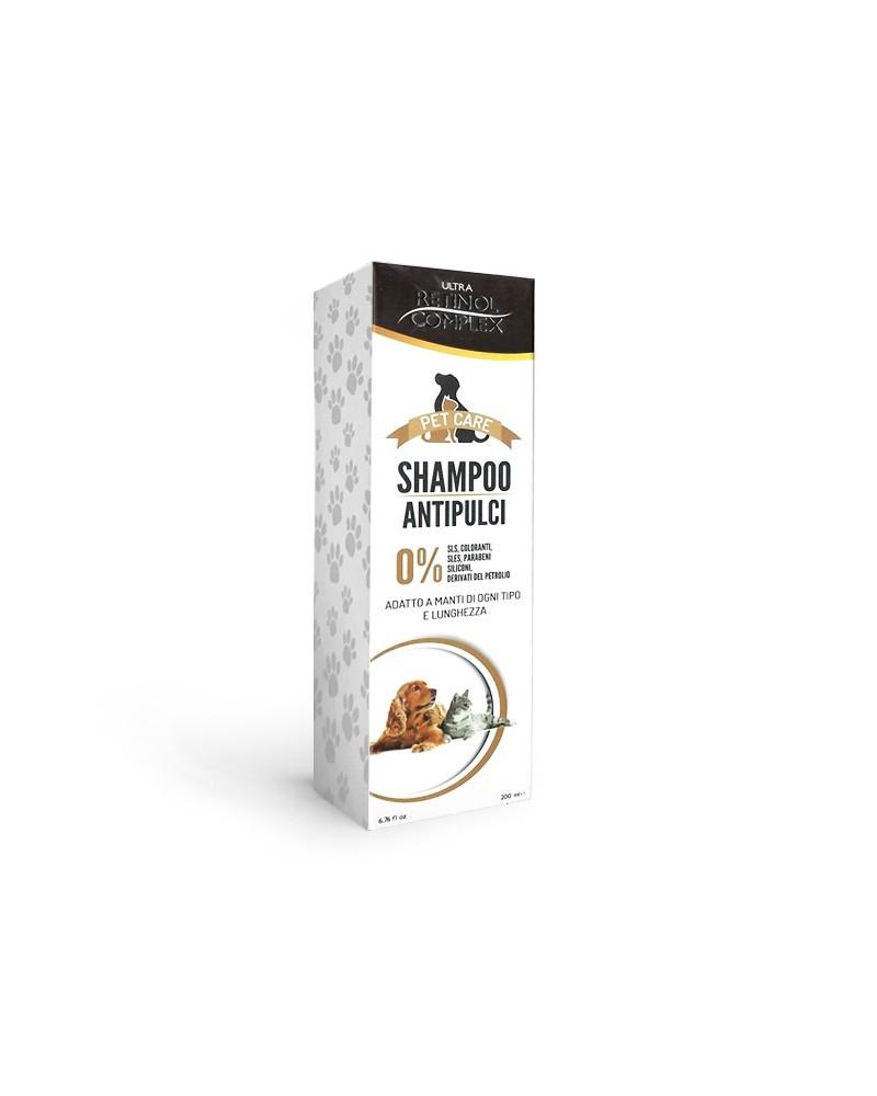 Retinol Complex Shampoo Antipulci per Cani e gatti 200 Ml