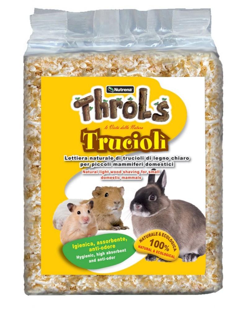 Throls Trucioli lettiera naturale per piccoli mammiferi 3,5 Litri
