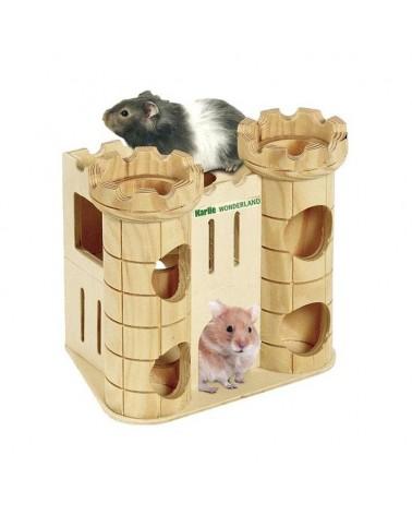Karlie Castello di Robin in legno per piccoli roditori
