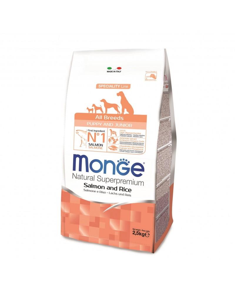 Monge All Breeds Puppy & Junior Salmone con Riso