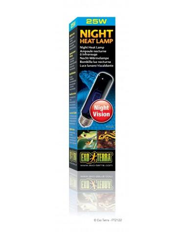Lampada Night Heat 25 Watt Exo Terra luce lunare per terrario