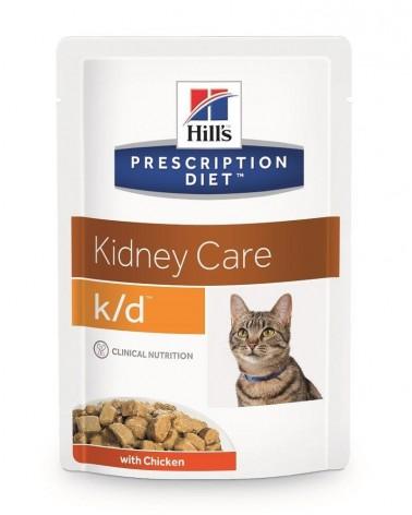 Hill's Prescription Diet Kidney Care k/d Alimento per Gatti con Pollo 85 Gr