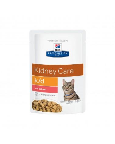 Hill's Prescription Diet Kidney Care k/d Alimento per Gatti con Salmone 85 Gr