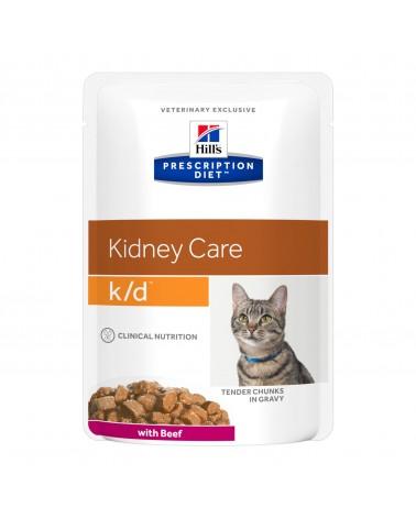 Hill's Prescription Diet Kidney Care k/d Alimento per Gatti con Manzo 85 Gr