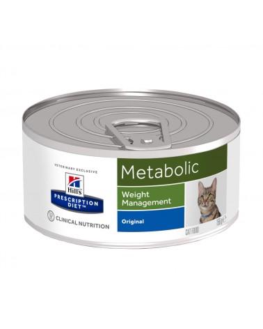 Hill's Prescription Diet Metabolic Alimento per Gatti con Carni miste 156 Gr