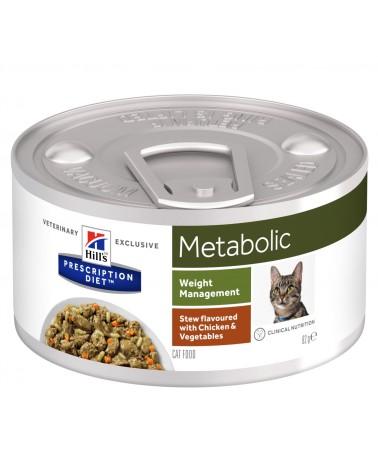 Hill's Prescription Diet Metabolic Spezzatino per Gatti alle Verdure e Pollo 82 Gr