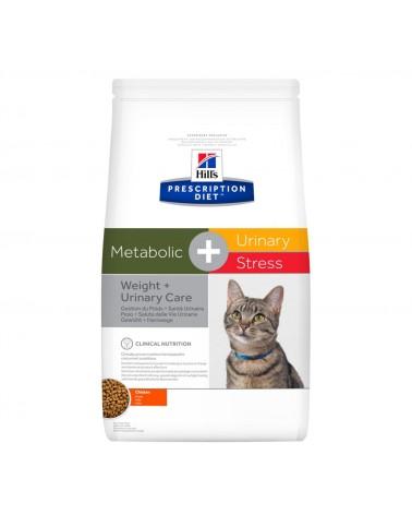 Hill's Prescription Diet Metabolic + Urinary Stress Crocchette per Gatti al Pollo 1,5 Kg
