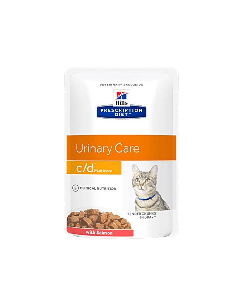 Hill's Prescription Diet Urinary Care c/d Multicare Bocconcini In Salsa con Salmone 85 Gr