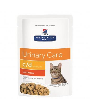 Hill's Prescription Diet Urinary Care c/d Multicare Bocconcini In Salsa con Pollo 85 Gr