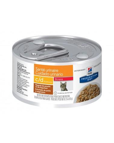 Hill's Prescription Diet Urinary Care c/d Multicare Spezzatino per Gatti al Pollo e Verdure 82 Gr