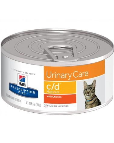 Hill's Prescription Diet Urinary Care c/d Multicare Spezzatino per Gatti al Pollo 156 Gr