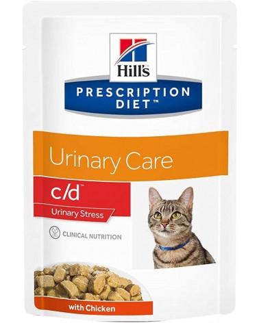 Hill's Prescription Diet Urinary Care c/d Stress Bocconcini In Salsa con Pollo 85 Gr