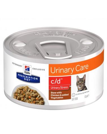 Hill's Prescription Diet Urinary Care c/d Multicare Stress Spezzatino per Gatti al Pollo e Verdure 82 Gr