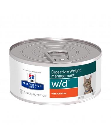 Hill's Prescription Diet Digestive Weight Management w/d Spezzatino per Gatti al Pollo 156 Gr