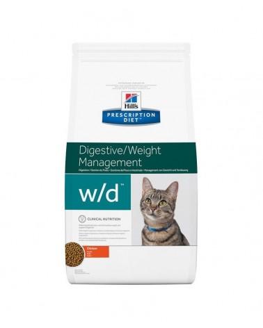 Hill's Prescription Diet Digestive Weight Management w/d Crocchette per Gatti al Pollo 1,5 Kg
