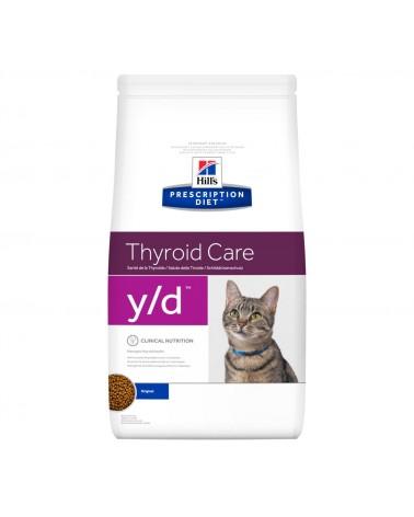 Hill's Prescription Diet Thyroid Care y/d Crocchette per Gatti al Pollo 1,5 Kg