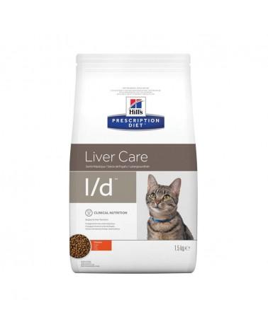 Hill's Prescription Diet Liver Care l/d Crocchette per Gatti al Pollo 1,5 Kg