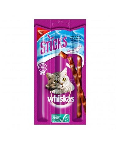 Whiskas Sticks Snack Gatti al Manzo 3 Pezzi 18 Gr