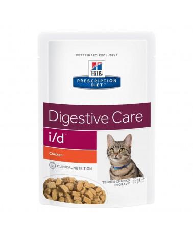 Hill's Prescription Diet Digestive Care i/d Alimento per Gatti con Pollo 85 Gr