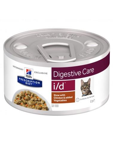 Hill's Prescription Diet Digestive Care i/d Alimento per Gatti al Pollo e Verdure 82 Gr