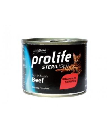 Prolife Gatti Sterilised Grain Free Adult Sensitive Umido con Manzo 200 Gr