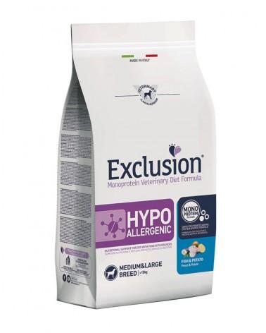 Exclusion Hypoallergenic Medium-Large crocchette di Sorgo e Patate 12 Kg