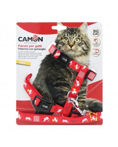 Camon Pettorina con guinzaglio per gatti grandi