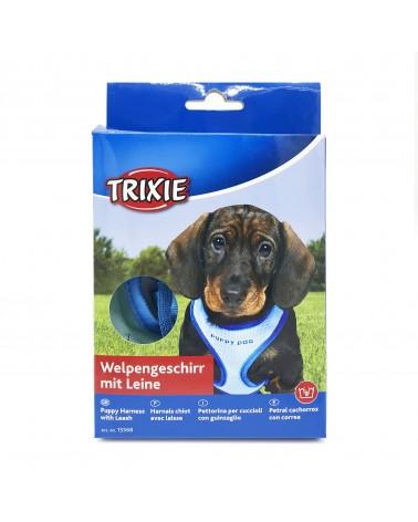 Trixie Pettorina con guinzaglio per cuccioli XS-S blu