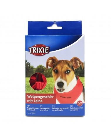 Trixie Pettorina con guinzaglio per cuccioli S rosso