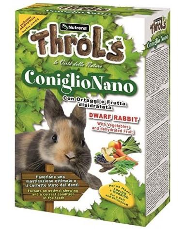Throlls Bunny Fiber per conigli nani con ortaggi e frutta disidratata