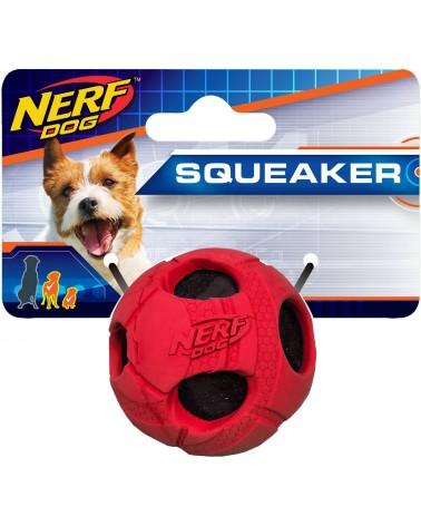 Nerf Dog Squeaker Palla con squittio M rossa