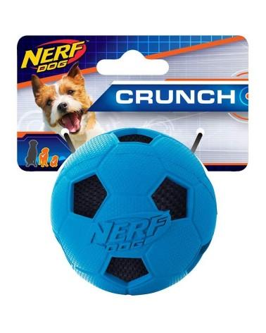 Nerf Dog Crunchable Palla da calcio con squittio e suono di plastica S