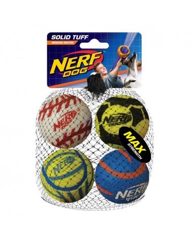 Nerf Dog Solid Tuff Palle da tennis alta resistenza e densità M 4 pz