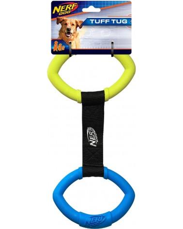 Nerf Dog 2 Anelli Rings Strap Tug gioco da traino