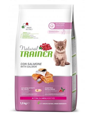 Natural Trainer Kitten crocchette con Salmone 1,5 kg