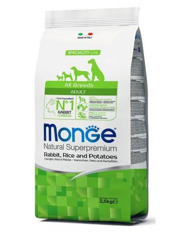 Monge All Breeds Adult Coniglio, Riso e Patate 2,5kg