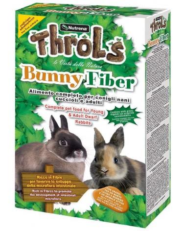 Throls Bunny Fiber, alimento composto per conigli nani, cuccioli e adulti