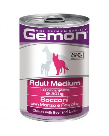 Gemon Cane Adult Medium umido con Manzo e Fegato 415 Gr