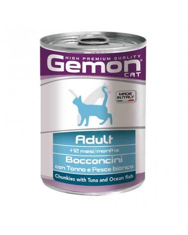 Gemon Cane Adult umido con Tonno e Pesce bianco 415 Gr
