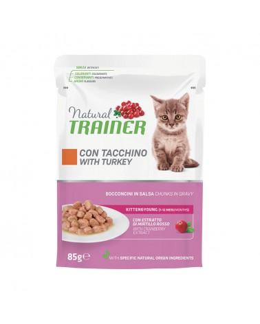 Natural Trainer Kitten bocconcini in salsa con Tacchino 85 gr
