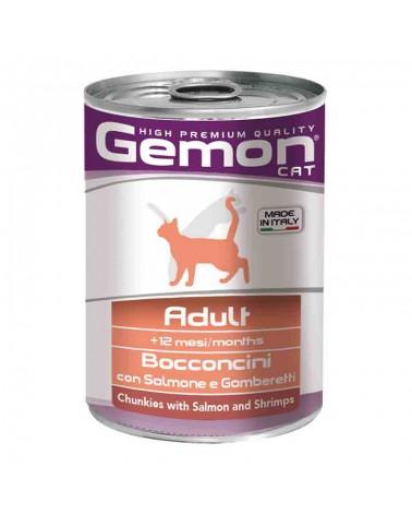 Gemon Gatto Adult umido con Salmone e Gamberetti 415 Gr