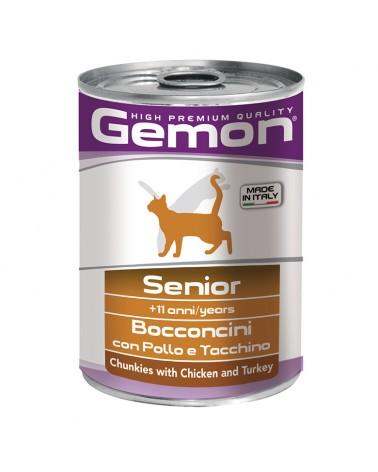 Gemon Gatto Senior umido con Pollo e Tacchino 415 Gr