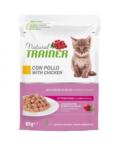 Natural Trainer Kitten bocconcini in salsa con Pollo 85 gr