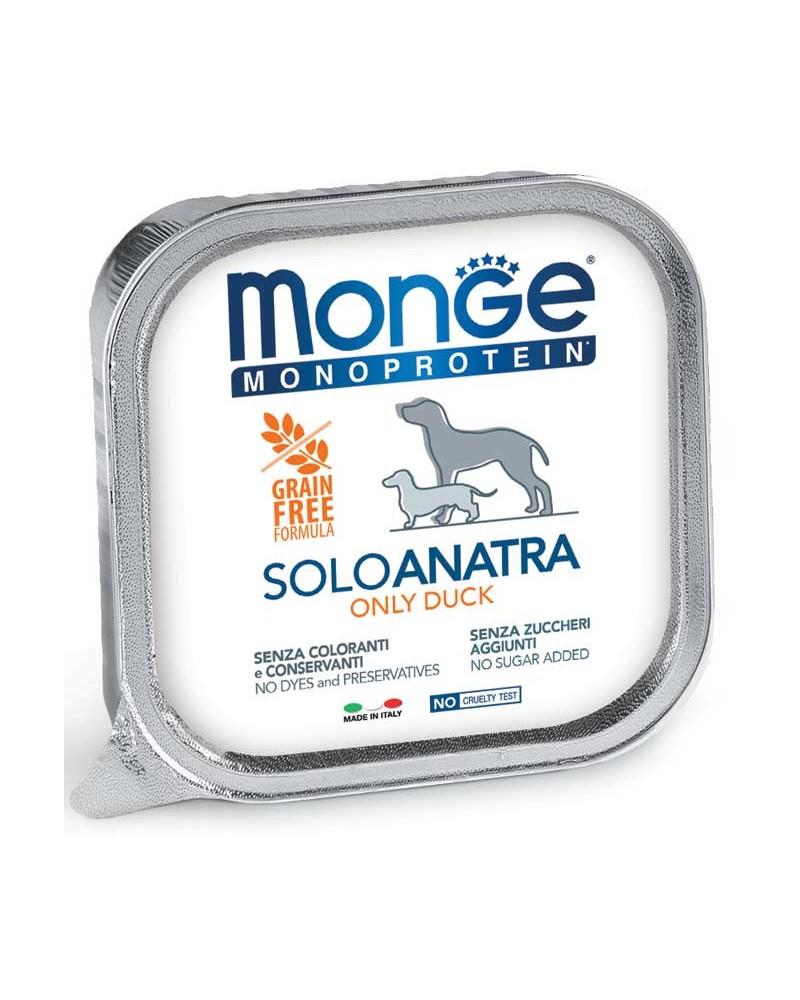Monge Adult Cane Monoproteico Patè solo Anatra 150 Gr