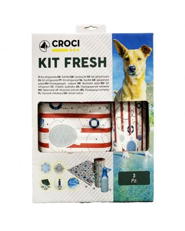 Croci Kit Fresh set refrigerante bottiglia con tappetino 50x40cm