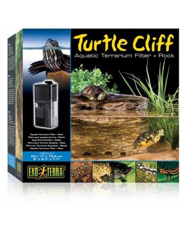 Filtro interno + Roccia Exo Terra Turtle Cliff per terrari acquatici