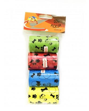 Dogs & Cats Rotoli di Sacchetti igienici per Cani, Misura M, 4x20 pezzi
